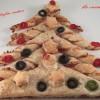 Albero di Natale di sfoglia rustico