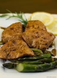 Scaloppine di pollo alla crema di asparagi