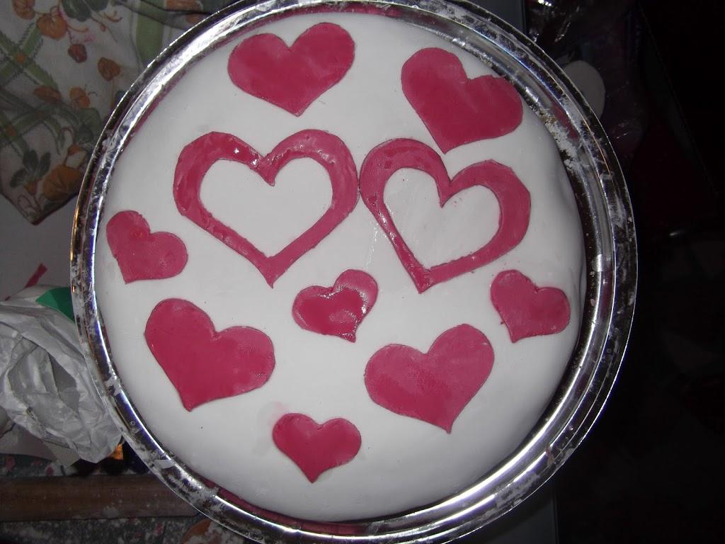 la torta per il mio amore…..nel giorno della nevicata!!!