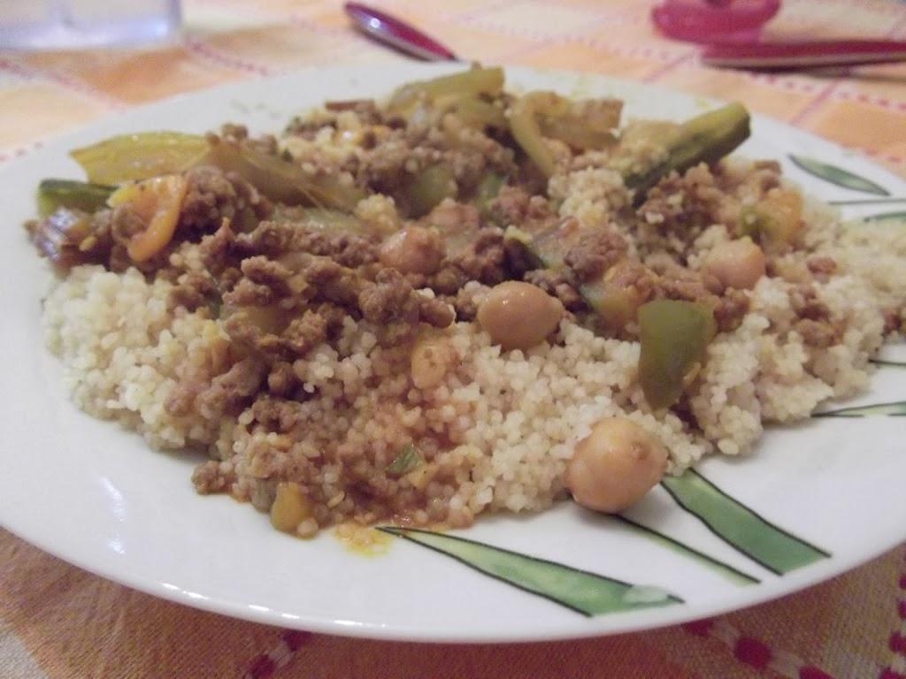 Cous Cous tunisino (cous cous con carne)