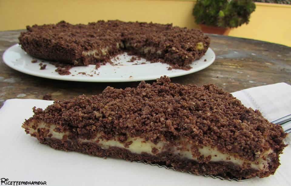 Sbrisolona al cacao e crema pasticcera