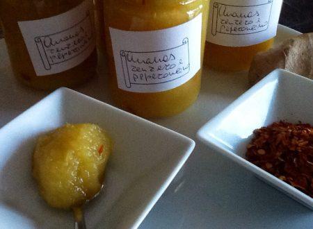Confettura di ananas, zenzero e peperoncino