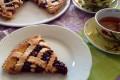 Crostata con orange curd e marmellata di lamponi
