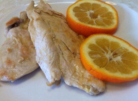 Scaloppine di pollo all'arancia amara