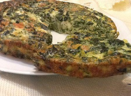 Frittata con spinaci e mozzarella al forno