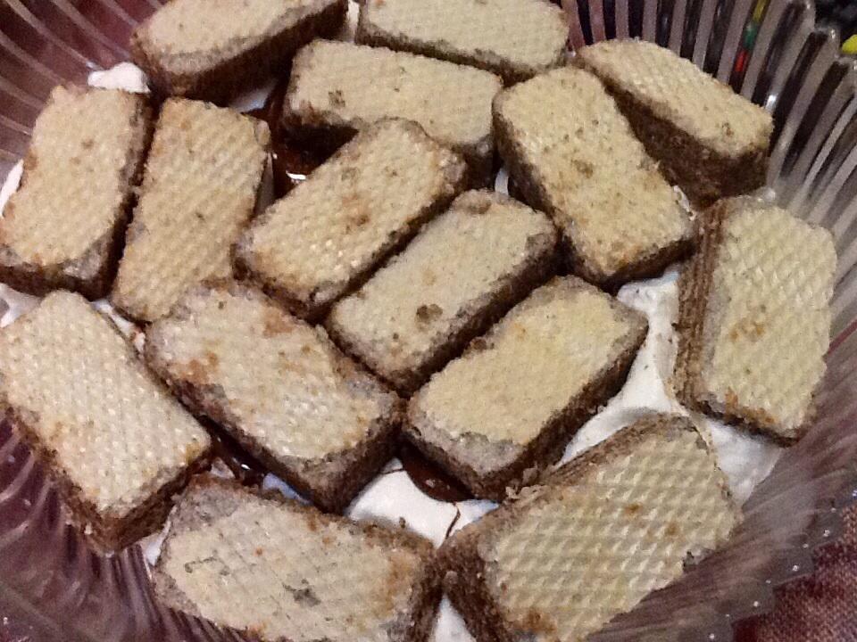Dolci con wafer alla vaniglia