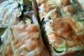 Focaccia semintegrale con zucchine, cipolle e scamorza
