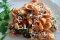 Orecchiette con rucola, pomodorini e ricotta salata