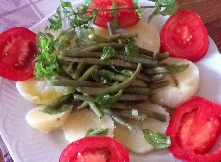 Fagiolini, patate e pomodori alla menta