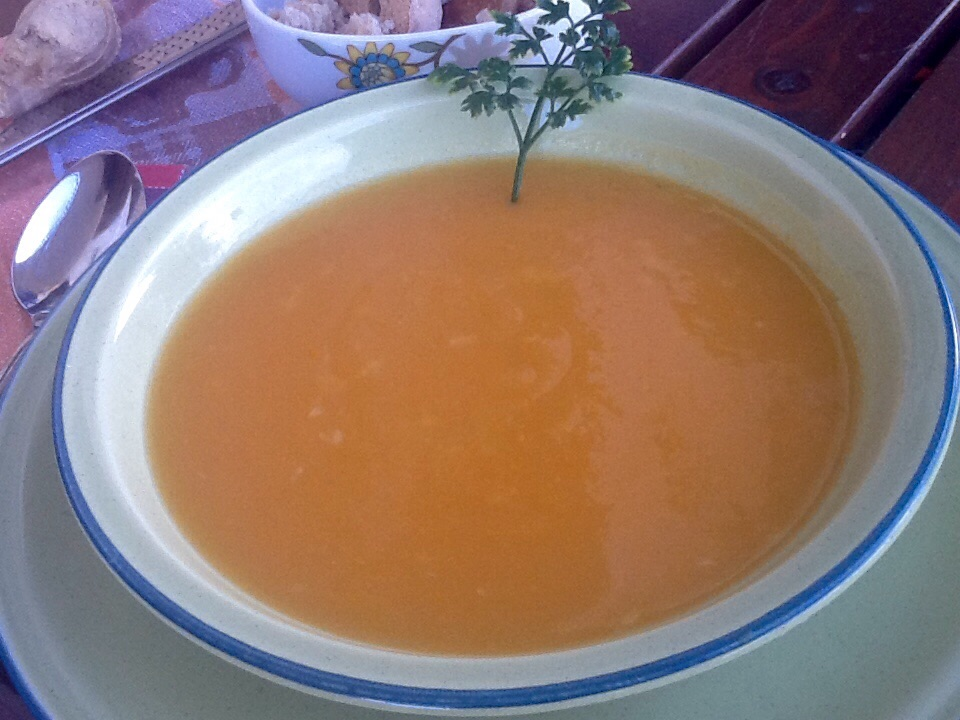 Vellutata di zucca, patate e carote