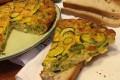 Frittata di zucchine romanesche e cipolla di tropea