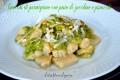 Gnocchi di parmigiano con pesto di zucchine e pistacchi