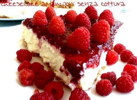 Cheesecake ai lamponi senza cottura