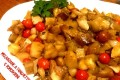 Melanzane a funghetto e pomodorini