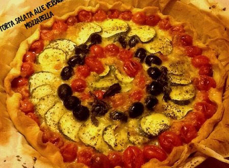 Torta salata alle verdure e mozzarella