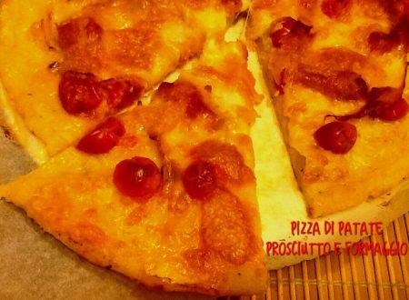 Pizza di patate prosciutto e formaggio