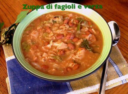 Zuppa di fagioli e verza