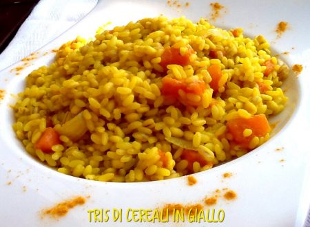 Tris di cereali in giallo