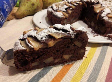 Torta al mascarpone pere e cacao
