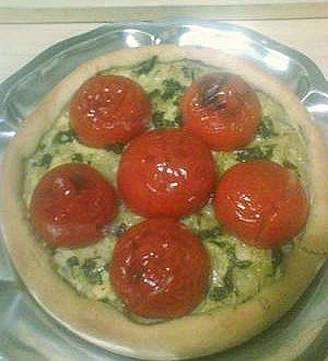 Pizza di pomodori