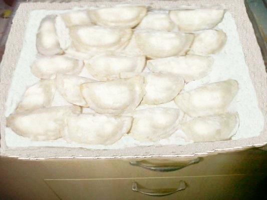 Ravioli panzerotti dolci al forno
