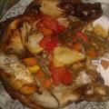 pollo ripieno al limone e verdure verdure