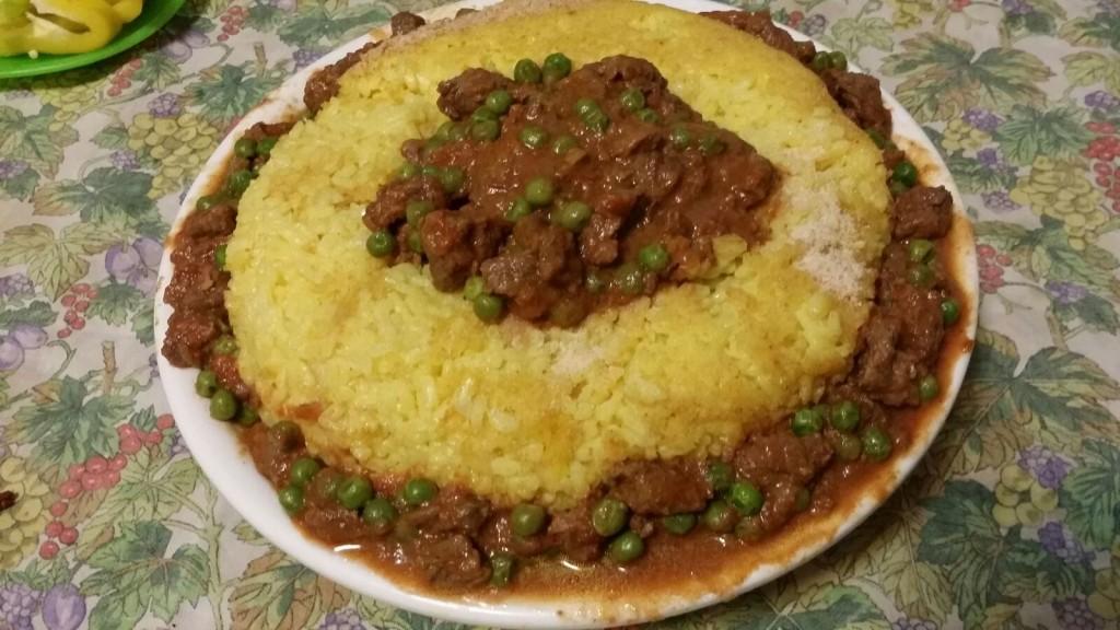 Corona di riso con manzo
