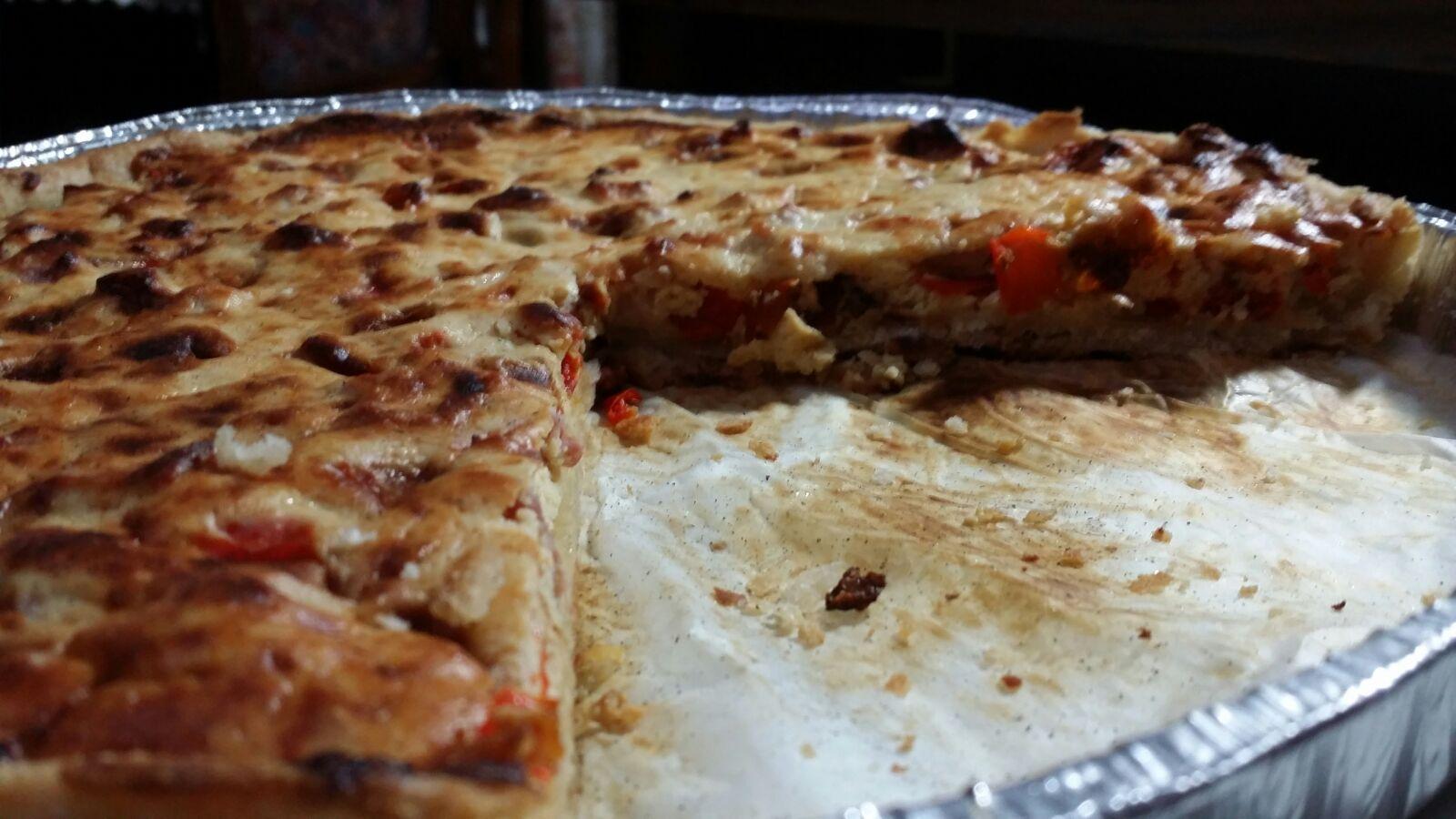 Torta Salata Ricotta Pancetta e Peperoni