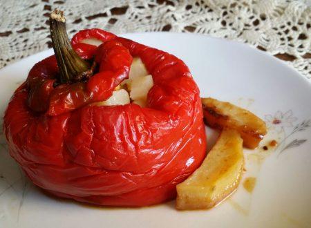 Peperoni ripieni di patate pancetta e pecorino
