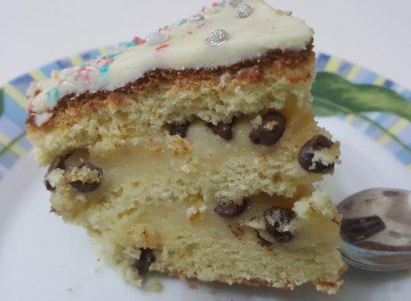 Torta di compleanno crema e cioccolato