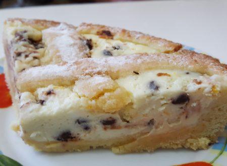Crostata ricotta e gocce di cioccolato