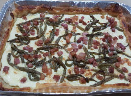 Torta salata fagiolini e pancetta