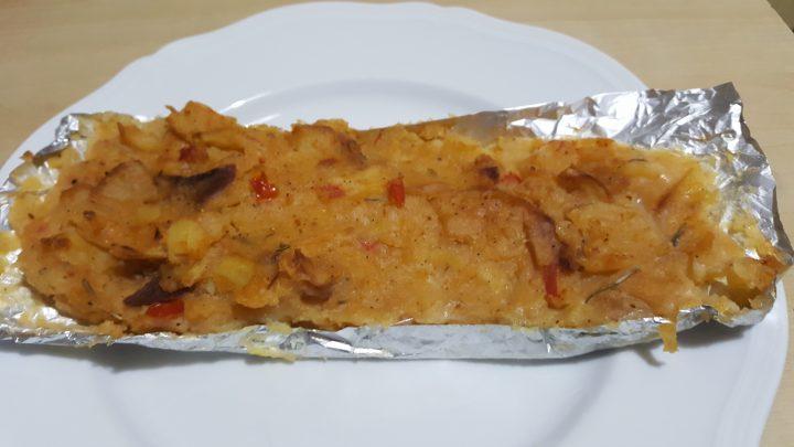 Merluzzo gratinato con patate e rosmarino