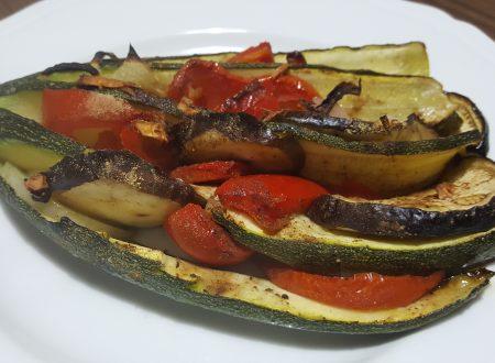 Zucchine arrosto con verdure