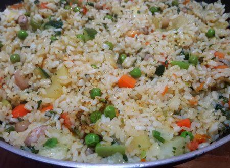 Riso con verdure al curry