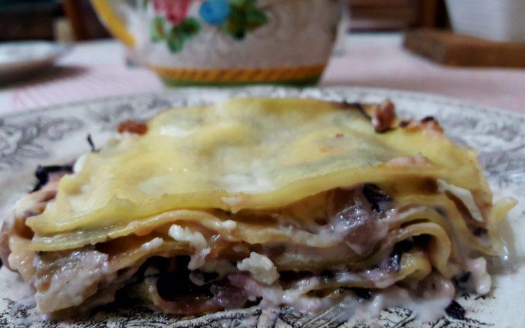 Lasagne radicchio e taleggio