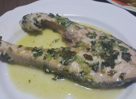 Salmone all'aglio e prezzemolo