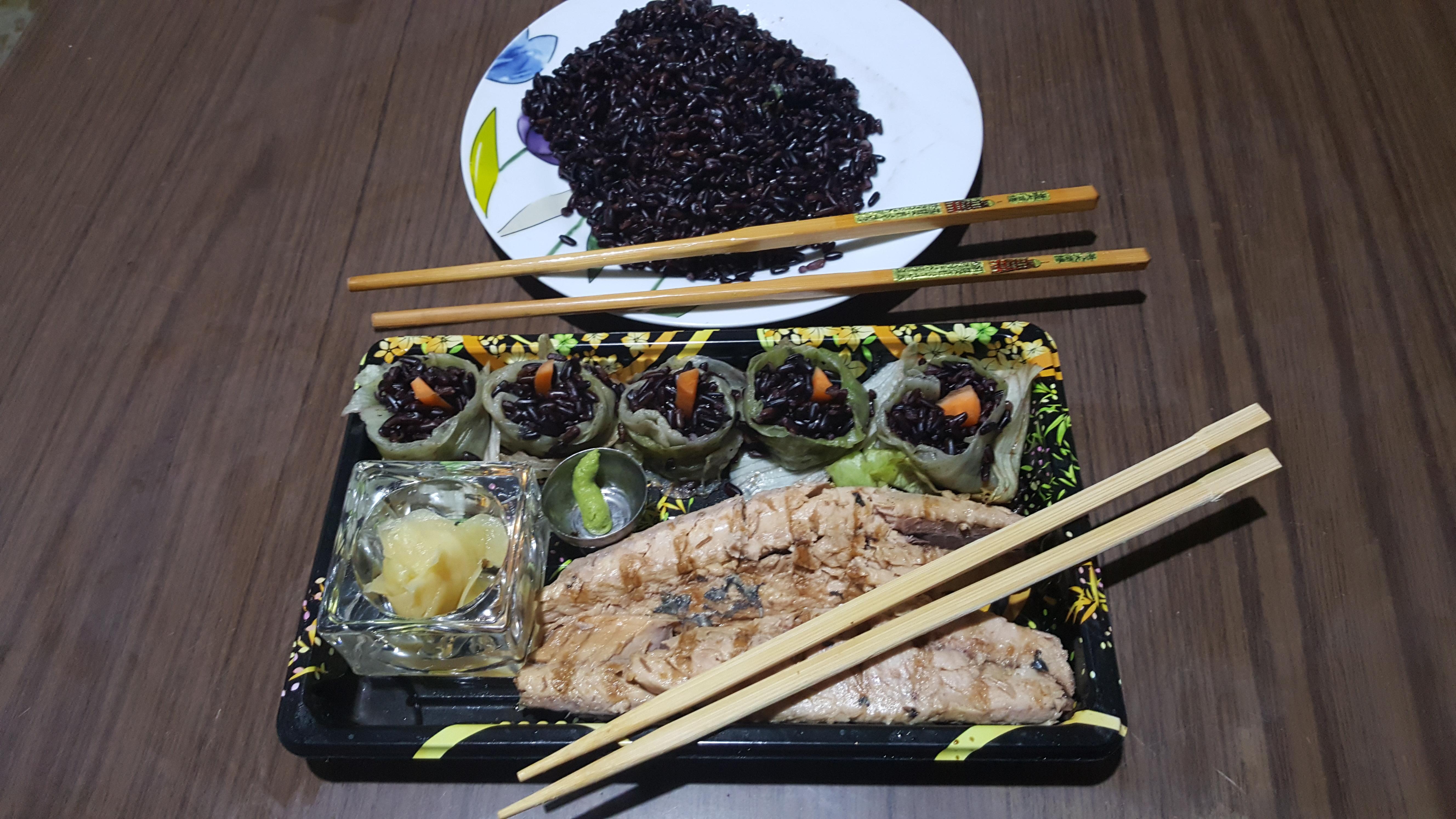 Sushi al riso dell'imperatore