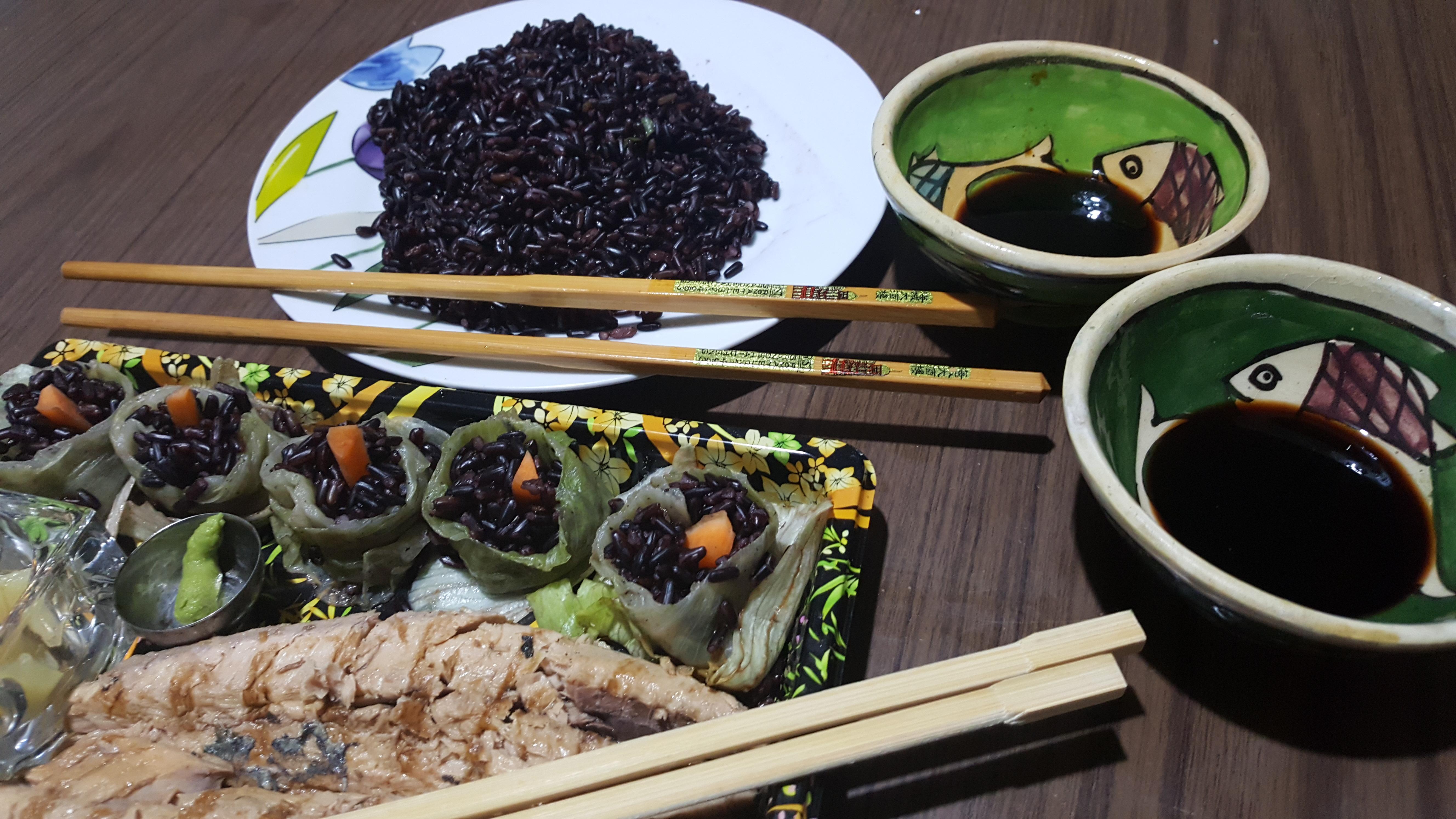 Sushi al riso nero