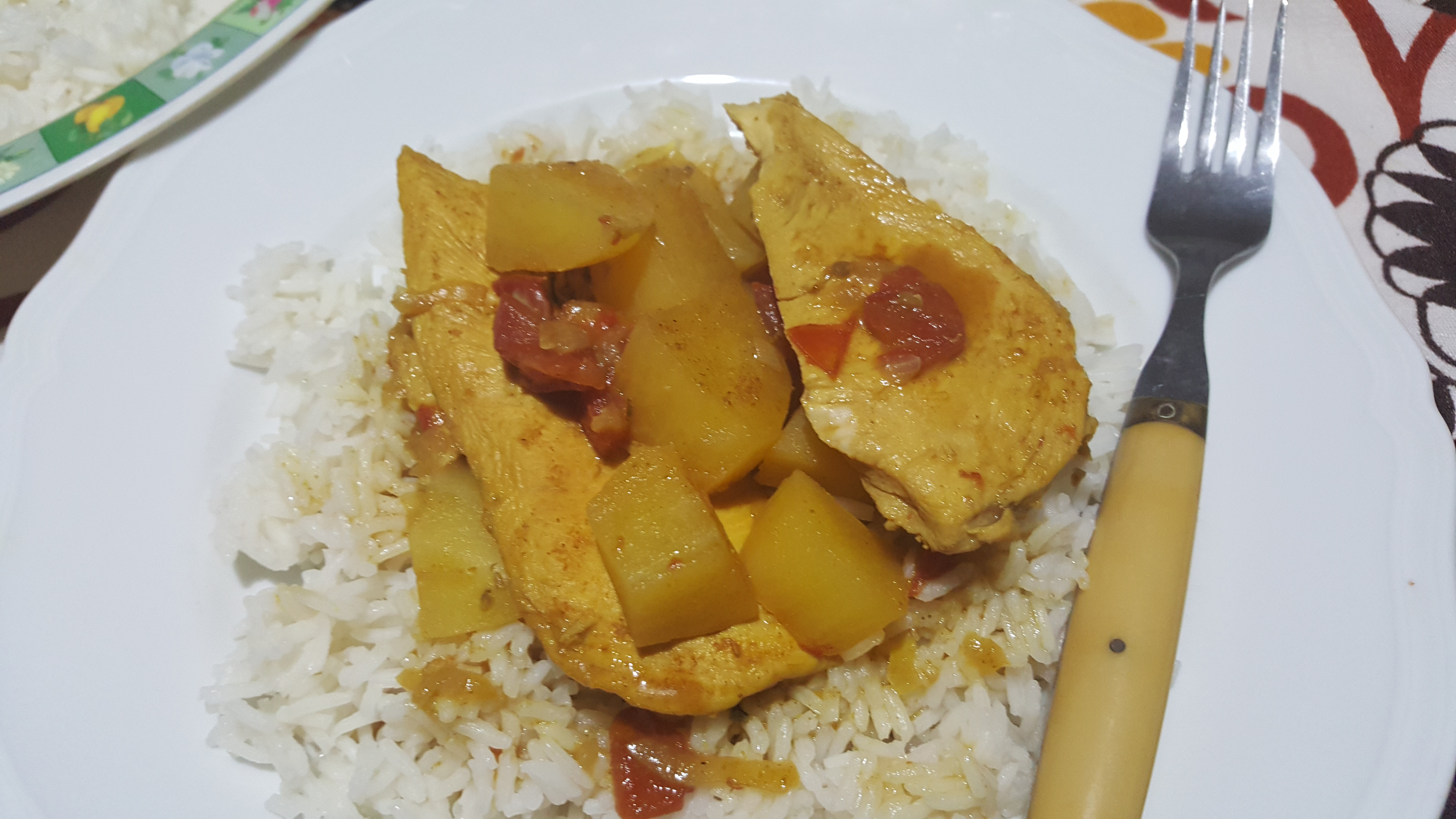 Pollo malese al curry