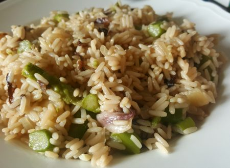 Risotto asparagi e radicchio
