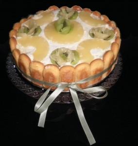 Tiramisù all'ananas cocco e crema pasticcera