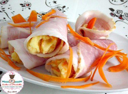 Rotolini capricciosi di prosciutto con patate e maionese