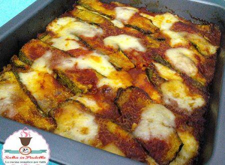 Parmigiana pasticciata di zucchine e Pennanera