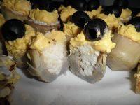 Carciofi Tre Colori con maionese e uova sode