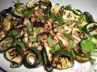 Melanzane e zucchine grigliate con aceto bianco