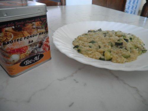 Risotto con zucchine curry e fondo bruno Tec-Al