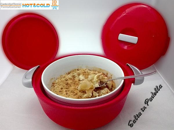 Crumble di mele croccante e cannella