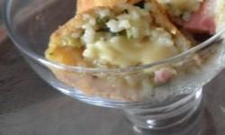 Arancini con risotto di zucchine e curry con mortadella