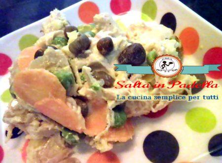 Insalata di pollo verdure e Capperi di Pantelleria